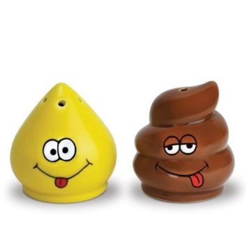 Tinkle & Turd Salt & Pepper Shaker Set - Whimsical & Unique Gift Ideas for the Coolest Gift Givers