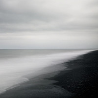 Black Sand Beach in Iceland Minimal by EyePoetryPhotography