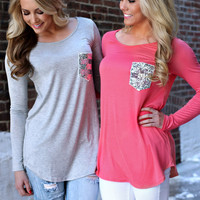 Sweethearts Top - Coral