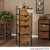 Holly & Martin Argyle Iron/Wicker Five-Drawer Unit - Bedroom Storage | StudioLX
