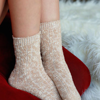 Autumn Breeze Boot Socks - Ivory