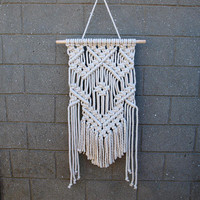 Bohemian decor Macrame wall hanging tapestry Eco wall decor Handmade gift mother Hippie home decor White wall decoration Wall accents