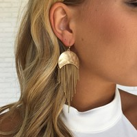 Golden Days Fringe Earrings