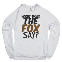 What does the Fox Say Hoodie Sweatshirt-Unisex White Hoodie