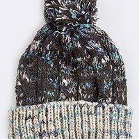 3TONE COZY BEANIE WITH POMPOM