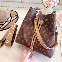 LV Louis Vuitton Newest Women Shopping Bag Leather Handbag Crossbody Satchel Bucket Bag