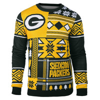 Green Bay Packers Patches Men's Ugly Sweater