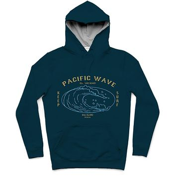 Pacific Wave Trendy All-Over Print Solid Cyprus Hoodie