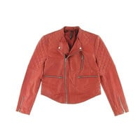 W118 by Walter Baker Womens Leather Quilted Motorcycle Jacket