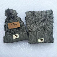 UGG Winter men and women knit hats & scarves two sets