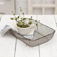 Farmhouse Woven Wire Table Basket