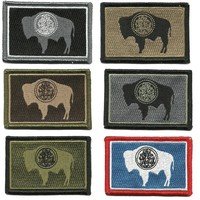 """BuckUp Tactical Morale Patch Hook Wyoming Cheyenne State Patches 3x2"""""""