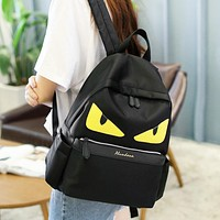 Fendi New fashion eye couple backpack bag Black