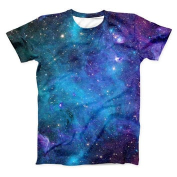 The Azure Nebula ink-Fuzed Unisex All Over Full-Printed Fitted Tee Shirt