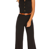 Jumpsuit Romper Summer Sexy Women Sleeveless Trousers Long Pants Overall macacao feminino Lady Jumpsuit with Belt