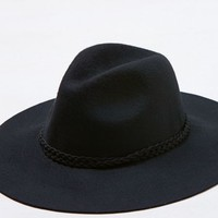 AEO Women's Wide Brim Fedora (True Black)