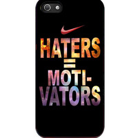 Nike Haters Motivation Custom iPhone 5s For iPhone 5/5S Case