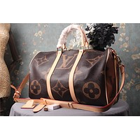 LV Louis Vuitton MEN'S MONOGRAM CANVAS KEEPALL HANDBAG TRAVEL BAG