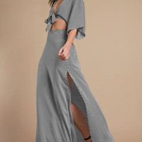 Flare By it Stripe Maxi Skirt