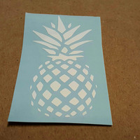Pineapple decal, Pineapple, Car decal, Window cling, Pineapple vinyl decal, vinyl decals