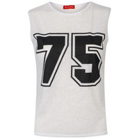 Influence Women's College Number Muscle Vest - White Womens Clothing | TheHut.com