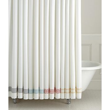 Duet Embroidered Shower Curtains by Legacy Home