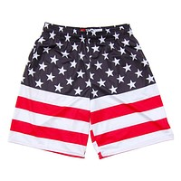American Flag 50/50 Lacrosse Shorts