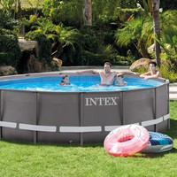 """14' x 42"""" Outdoor Above Ground Round Swimming Pool Set with Filter,Ladder & Cover"""