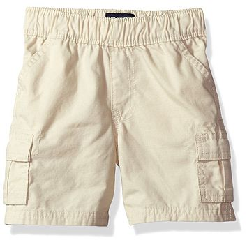 The Childrens Place Boys Toddler Lil Pull On Cargo Short, Stone, Size  2T
