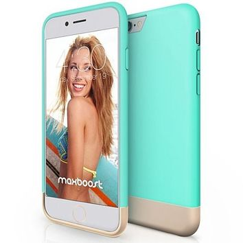 Maxboost iPhone 6 Case,Turquoise Blue