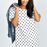 Lucy Quilted Spot T-Shirt Dress