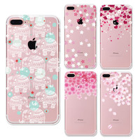 Peach Petal Flowers phone Cases For Iphone 6 6s 6Plus 7 7s 7plus Soft TPU Silicon Ultra-Thin Floral Cherry Phone Cover Case