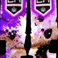 LA Kings Inspired Custom Nike Elite Socks