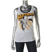The Simpsons Womens Juniors Cotton Racerback Muscle Tank