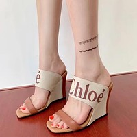Chloe Fashion Trending Leather Women High Heels Shoes Women Sandals Heel