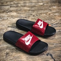 Nike Benassi Swoosh Sandals Style #11 Slippers - Best Online Sale