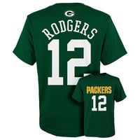 Green Bay Packers Aaron Rodgers Tee - Boys 8-20, Size: