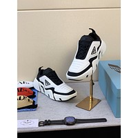 prada men fashion boots fashionable casual leather breathable sneakers running shoes 117