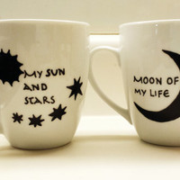 Moon of My Life My Sun and Stars Game of Thrones Mugs Set of 2