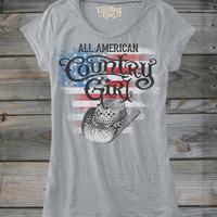 Juniors All American Country Girl ® Burnout Tee