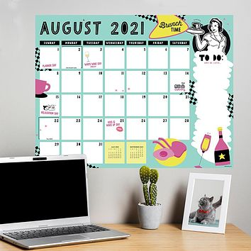 July 2021-June 2022 Girl Friend Large Desk Pad Monthly Blotter Calendar
