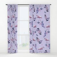 Lilac Flamingo Toille Window Curtains by ninamay