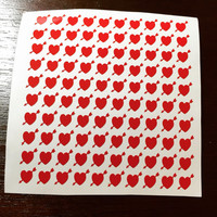 Heart with arrow nail decals