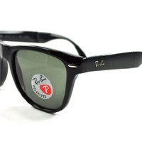 Ray-Ban RB4105 601/50/22 BLACK FRAME WITH GREEN/GREY POLARIZED LENSES SIZE 50mm