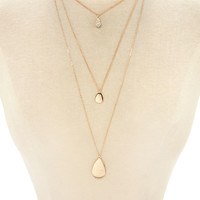 Teardrop Pendant Necklace Set