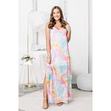 All Extra All The Time Tie Dye Maxi Dress