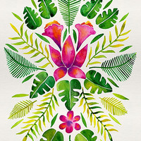 Tropical Symmetry – Pink & Green by Cat Coquillette