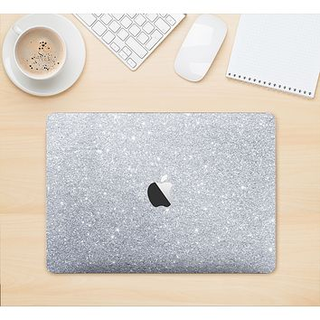 """The Silver Sparkly Glitter Ultra Metallic Skin Kit for the 12"""" Apple MacBook (A1534)"""