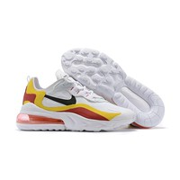 Nike Air Max 270 REACT White Red Yellow Black Running Shoes - Best Deal Online