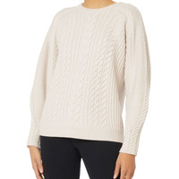 Brinley Blouson Sleeve Cabled Sweater